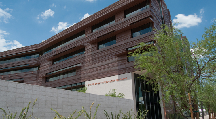 In 2012, the Health Sciences Education Building opened and hosts the UA College of Medicine – Phoenix. (Photo: Patrick McArdle/UANews)