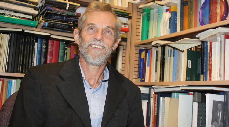 University Distinguished Professor Albrecht Classen, whose research interests cover the history of German and European literature and culture dating back to the year 800, has authored or co-authored more than 70 books and six volumes of his own poetry. (Photo credit: Beatriz Verdugo)