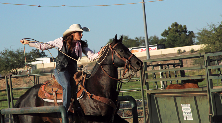 UA senior and past Rodeo Club president Carollann Scott began competing in rodeos at age 4. (Photo by Beatriz Verdugo/UANews)
