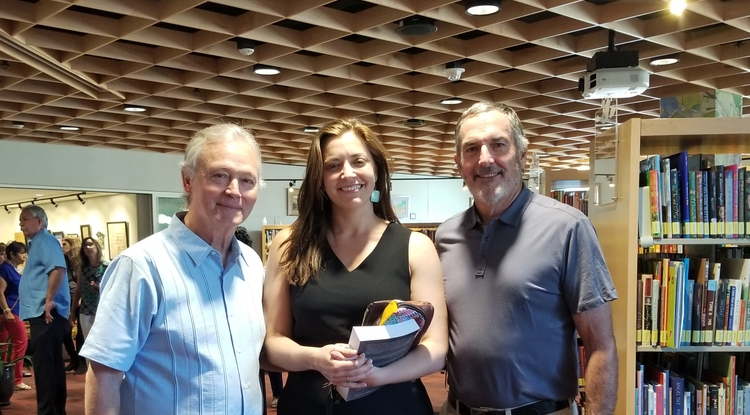Todd Fletcher, Leah Durán and Bob Holl, founder of Learning A-Z
