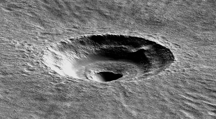A digital terrain model of the crater that the UA's Ali Bramson investigated. (Image: American Geophysical Union)