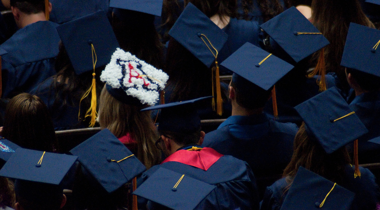 More 1,700 degrees will conferred upon undergraduates during the UA's 149th commencement ceremony, to be held Dec. 21. (Photo credit: Patrick McArdle/UANews)