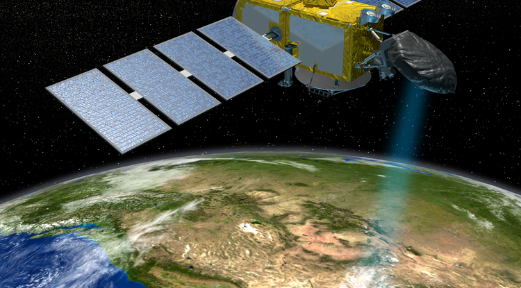 The Jason series of U.S./European satellites can measure the height of the ocean surface. (Image: NASA/JPL-Caltech)