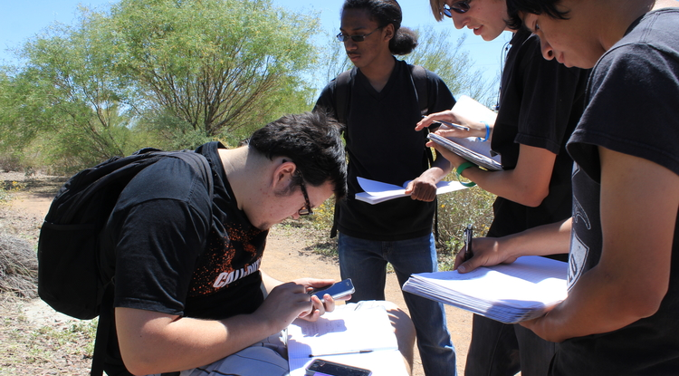 The Discovery Program uses smartphones to guide visitors through Phoenix's Rio Salado Habitat Restoration Area.
