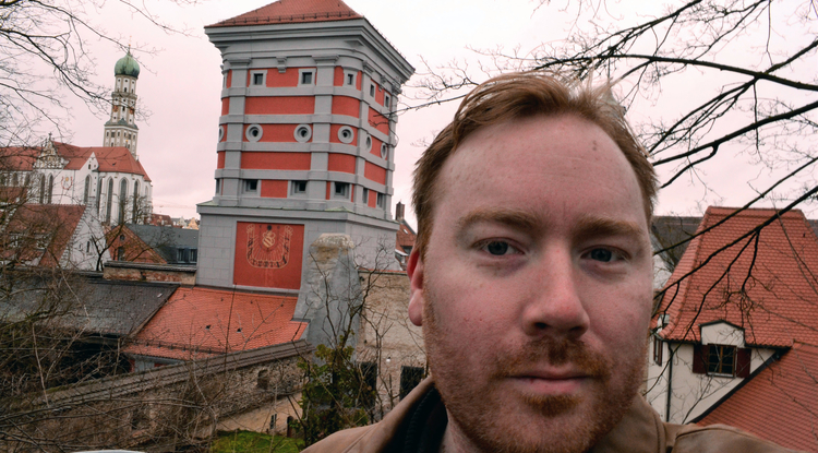 Adam Hough has traveled to the German cities of Wolfenbüttel and Augsburg for his research.