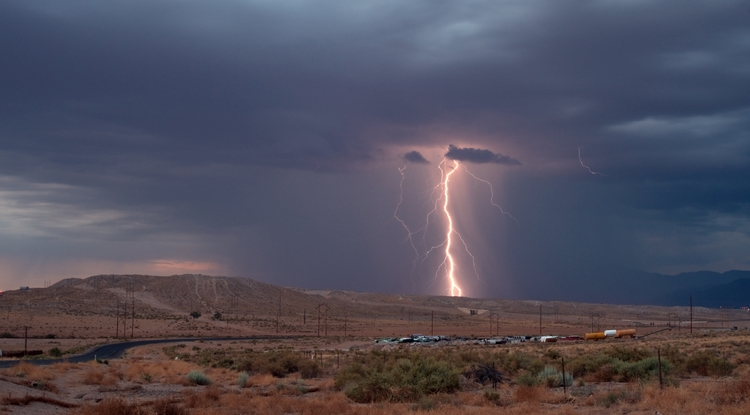 Researchers hope that ultimately, the technology could be used to steer lightning away from buildings. (Photo: David Aragon)