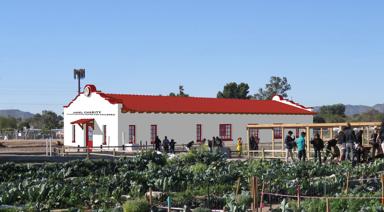 The Angel Charity Culinary Education Center, depicted in this artist's rendering, will include a state-of-the-art commercial kitchen where children can learn to prepare healthy meals from food they have grown at Tucson Village Farm.
