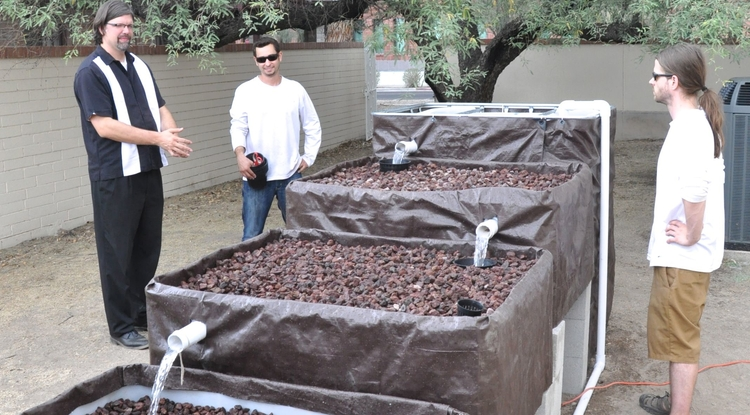 The UA American Indian Science and Engineering Society chapter and Native American Science and Engineering Program launched the Aquaponics and Native Seeds Project. (Photo credit: Ace Charette)