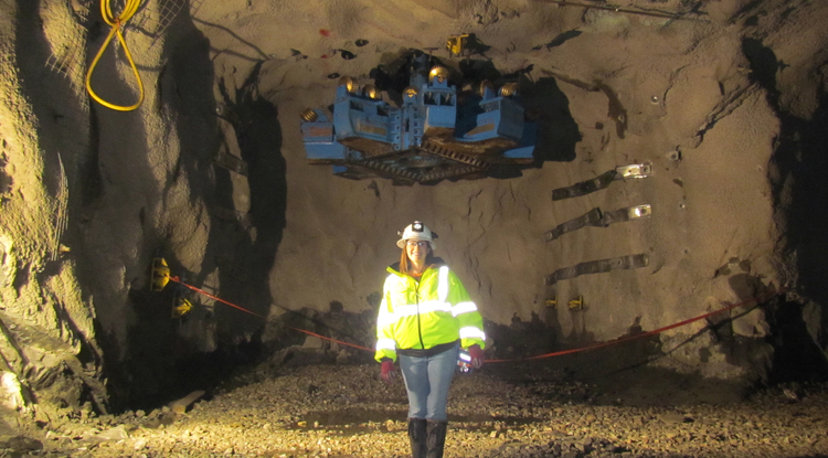 Ruby Barickman is on assignment in Michigan helping to plan a small mine project.