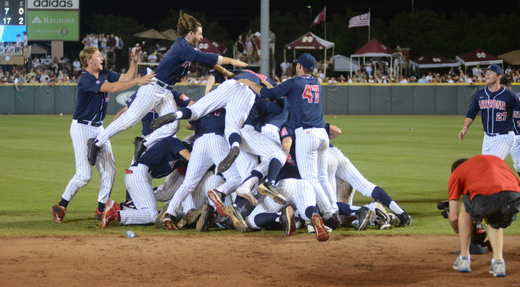 For the 17th time, the Arizona baseball team will play in the College World Series. (Photo: Mary Alice Truitt)