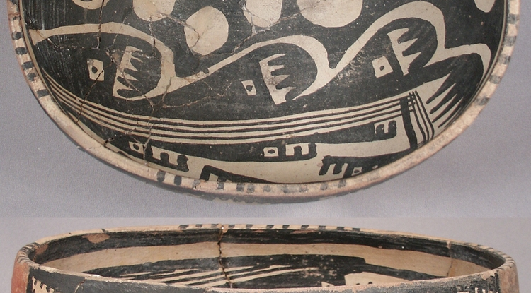 Researchers analyzed thousands of artifacts like this Salado polychrome ceramic bowl to learn about social networks in the pre-Hispanic Southwest between A.D. 1200 and 1450.