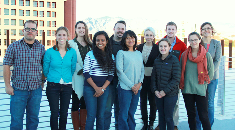 The group of 11 graduate students named 2017 Carson Scholars represents the natural sciences, law and history. They are (from left) Rodolfo Peon, Katie Gougelet, Tamee Albrecht, Pradnya Garud, Amado Guzman, Denise Moreno Ramírez, Genevieve Comeau, Becki Beadling, Alex Erwin, Meg Mills-Novoa and Amy Hudson. (Photo: David Archuleta/UA Institute of the Environment)