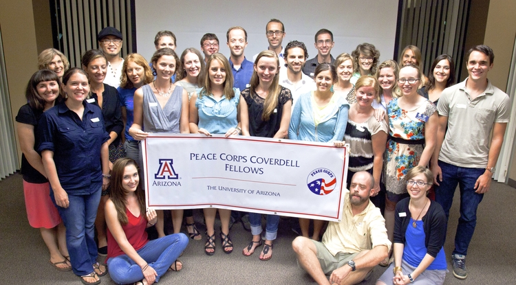 Those participating in the Paul D. Coverdell Fellows Program receive financial support for their graduate education, internships and other benefits. Each fellow must complete an internship related to their program of study in an underserved community in the U.S. Currently, 63 returned volunteers are Coverdell Fellows at the UA. (Photo courtesy of Abby Lohr)