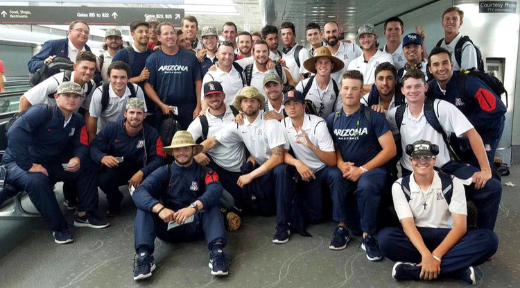 """UA baseball coach Jay Johnson: """"You look around the past three weeks and see the smiles on their faces and pictures they're taking, and I'm comfortable saying they're having the time of their lives while playing good baseball."""" (Photo: Arizona Athletics)"""