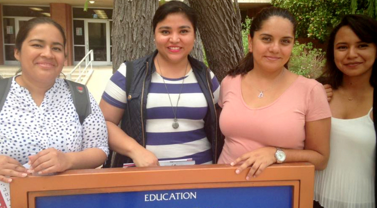"""UA South's FOBESII scholarship program was announced in the fall as a """"best practice"""" by the Secretary of External Relations in the Mexican Embassy. The program supported four students from Mexico during the fall of 2016. (Photo courtesy of Melissa Silva)"""