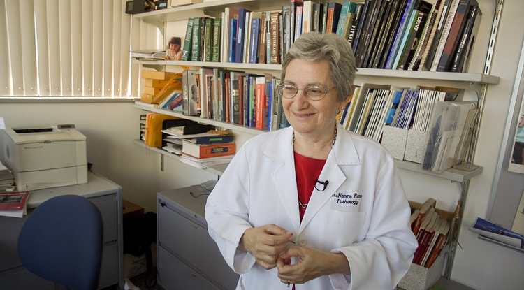 The scientific research by Dr. Naomi Rance on estrogen's involvement with hot flashes may lead to a promising treatment for them. (Photo: Bob Demers/UANews)