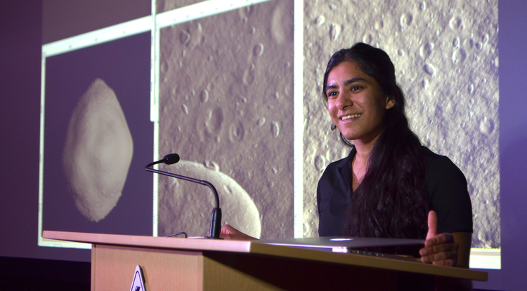 As an undergraduate, Namrah Habib served as an image processing intern for NASA's OSIRIS-REx mission at the UA. As a Churchill Scholar, she will collaborate with students from the United Kingdom as she pursues a master's degree at the University of Cambridge.