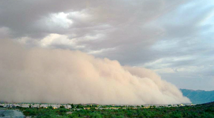 Dust storm season in Arizona begins in March.