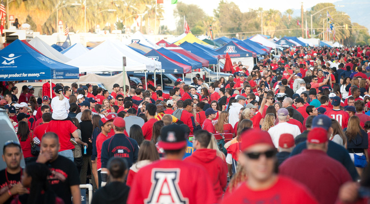 Tents on the the Mall draws thousands to the UA campus every Homecoming.