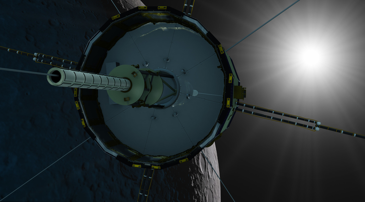 For 25 years, NASA probe ISEE/ICE has been orbiting the sun, abandoned after completing its missions. (Image: NASA)