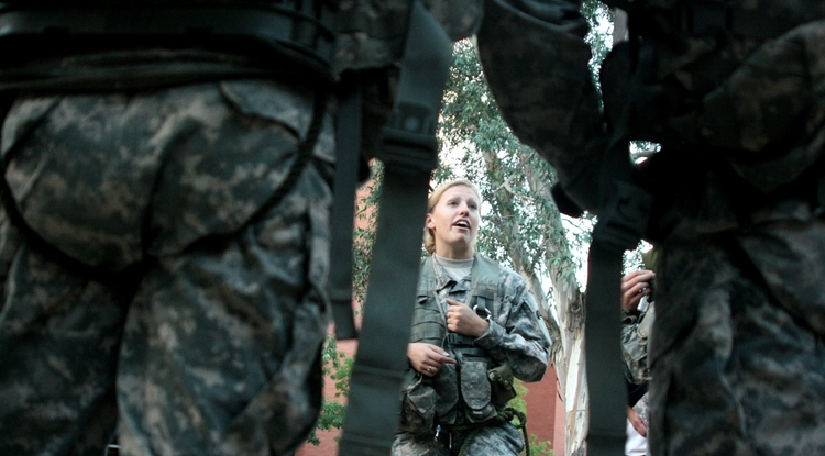 """UA mechanical engineering senior Maurissa Wortham served as the UA Reserve Officers' Training Corps Ranger Challenge Team captain. In a a male-dominated sport, the UA team also has """"a strong female presence,"""" she said. """"We're not used to seeing that."""""""