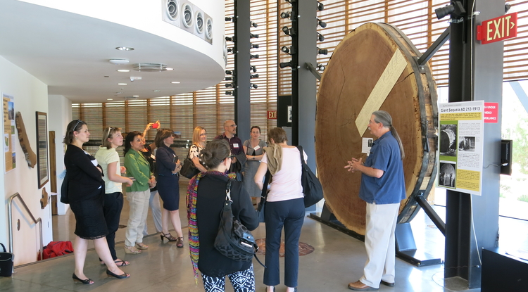 UA visitors toured the Laboratory of Tree-Ring Research during Global Partner Day in 2014.