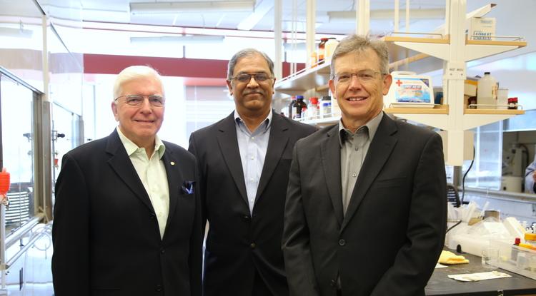 The Reglagene team, from left: Laurence Hurley, Vijay Gokhale and Richard Austin (Photo: Paul Tumarkin/Tech Launch Arizona)