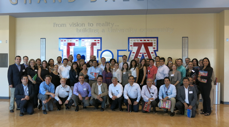 Leaders from 29 universities in Mexico visited the University of Arizona campus last week to learn about potential partnership opportunities with the UA.