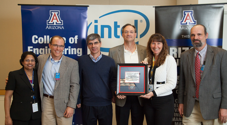 At a recent event to cement the relationship between Intel and the UA, Intel presented the UA team with a framed memento to recognize the collaboration.