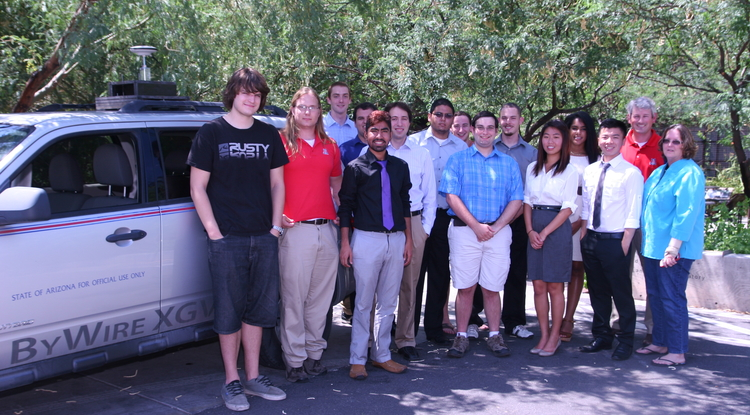A team of undergraduates from various states, and even as far away as Puerto Rico, have come together at the UA to work on a car that drives itself.
