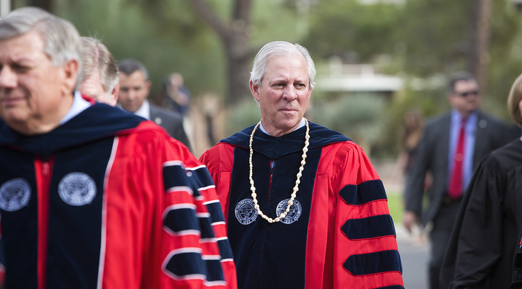 "Dr. Robert C. Robbins: ""The UA must be a source of innovation in products and services that benefit the world and drive the economy of Arizona."" (Photo: John de Dios/UANews)"