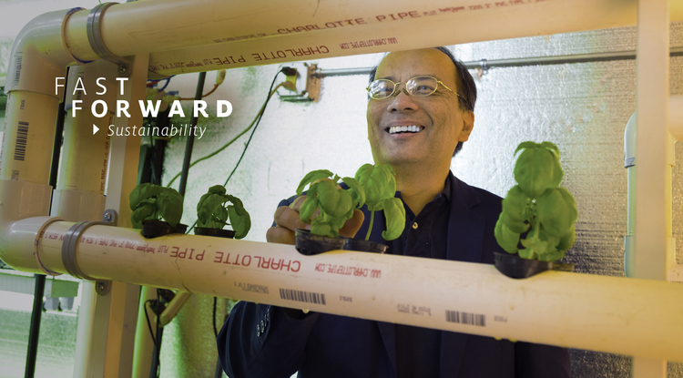"""Research and development leads to innovations and technology. I always knew that I wanted to go into that direction, so that I can contribute to solving some important problems facing our planet,"" says Joel Cuello, UA professor of agricultural and biosystems engineering. (Photo: Bob Demers/UA News)"