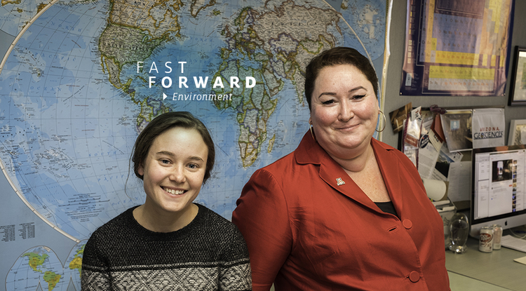The UA's Becki Beadling (left) and Joellen Russell have been working on a $21 million collaborative project, whose goal is to understand the Southern Ocean's acidification, heat uptake, and carbon and nutrient cycling. (Photo: Bob Demers/UANews)