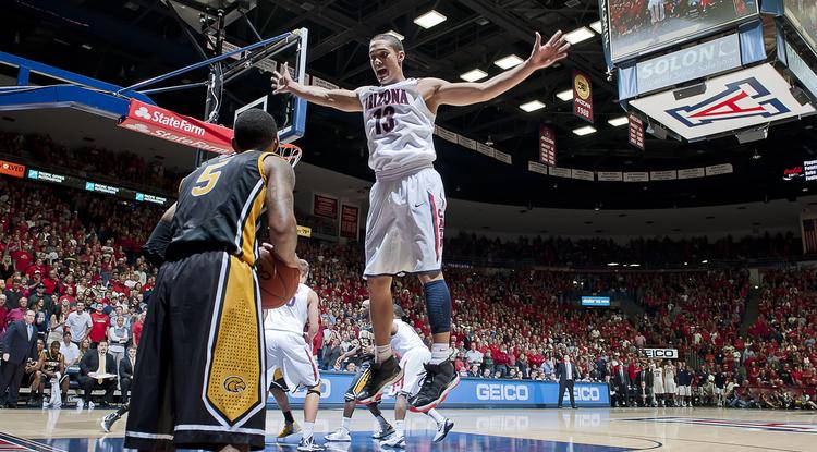 The UA's Nick Johnson plays against Southern Mississippi. (Photo courtesy of Arizona Athletics)