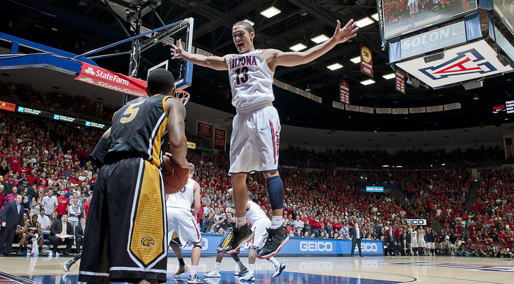 The UA's Nick Johnson plays against Southern Mississippi. (Photo courtesy of Arizona Athletics)