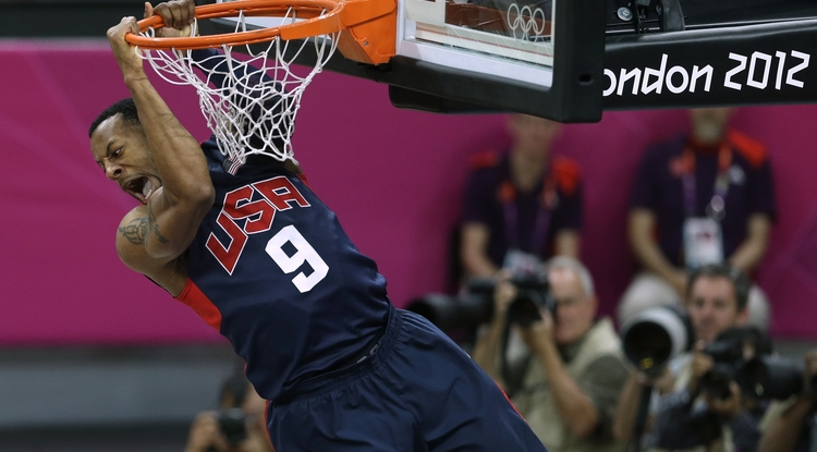 Former Wildcat Andre Iguodala won a gold medal with Team USA in the Olympics. (Photo courtesy of Arizona Athletics)