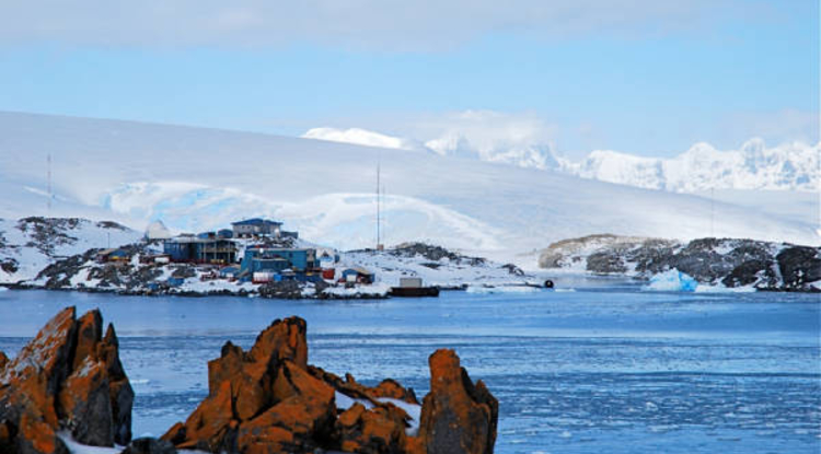 Palmer Station in Antarctica is home to scientists conducting research.