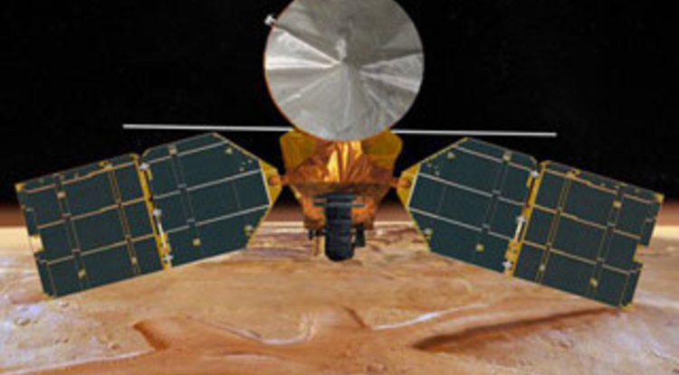 The HiRISE camera aboard NASA's Mars Reconnaissance Orbiter has been imaging the planet's surface since 2006. (Illustration: NASA/JPL-Caltech/UA)