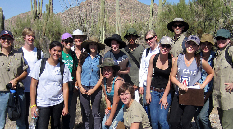 Margaret Wilch takes her science students from Tucson High Magnet School into the field to experience science in the real world. (Photo: Betsy Arnold)