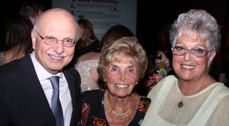 From left: Dr. Fayez K. Ghishan, Ruth Mondschein and Paula Mondschein. (Photo: Darci Slaten)