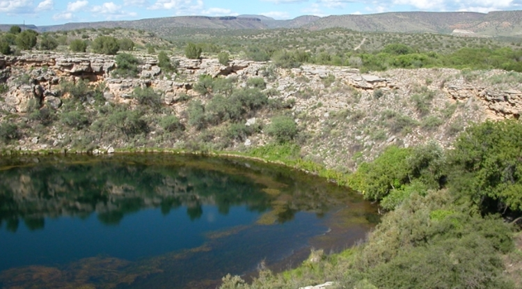 Ensuring a healthy water supply is one of the research areas of the UA Institute of the Environment. Shown here is Montezuma Well in Arizona. (Photo: USGS/R. Johnson)