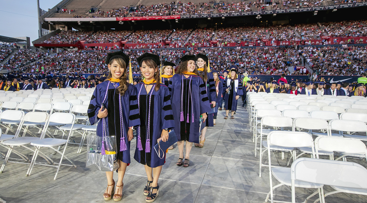 Stephanie Celeste and Michelle Celeste attended Commencement after graduating from the UA's online Doctor of Nursing Practice program. (Photo: John de Dios/UA News)