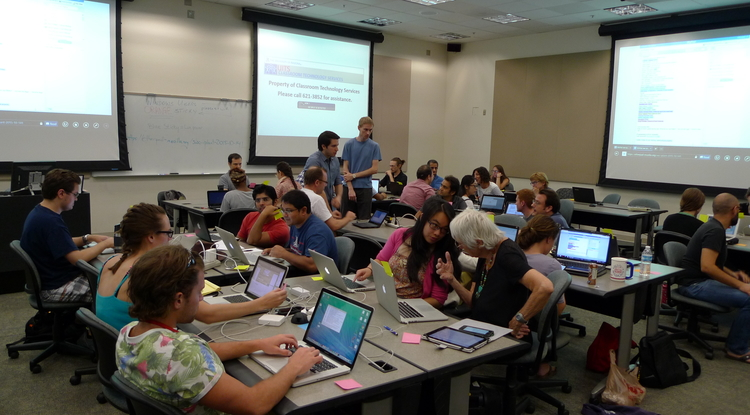 The most recent Software Carpentry workshop took place at the UA on Oct. 3 and 4.