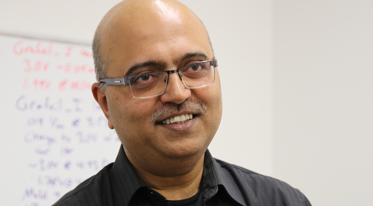 Palash Gangopadhyay, formerly a research professor at the UA College of Optical Sciences, is now full-time chief technology officer at Urbix. (Photo: Paul Tumarkin/Tech Launch Arizona)