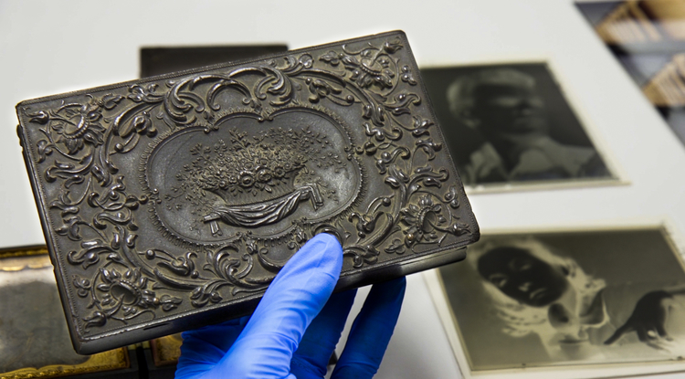 In the 19th century, union cases were used for holding, displaying or carrying a daguerreotype, the earliest photographic process. (Photo: Bob Demers/UANews)