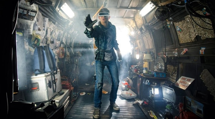 "Tye Sheridan in ""Ready Player One,"" Steven Spielberg's adaptation of the best-selling novel (Photo: Jaap Buitendijk/Warner Bros.)"