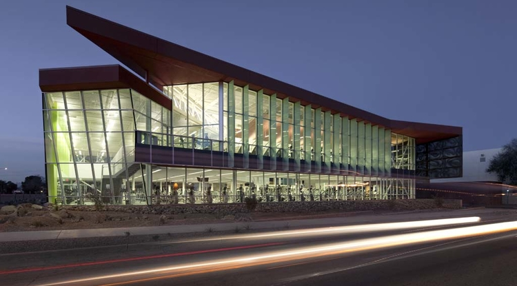 The UA Student Recreation Center was the first campus recreation center in the country to achieve Platinum LEED (Leadership in Energy and Environmental Design) certification from the U.S. Green Building Council for its sustainable design.