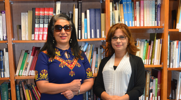 """Associate professor Samira Farwaneh (left) and doctoral candidate Kamilia Rahmouni are teaching a new course, """"Minorities in the Arab World,"""" through the UA School of Middle Eastern and North African Studies."""