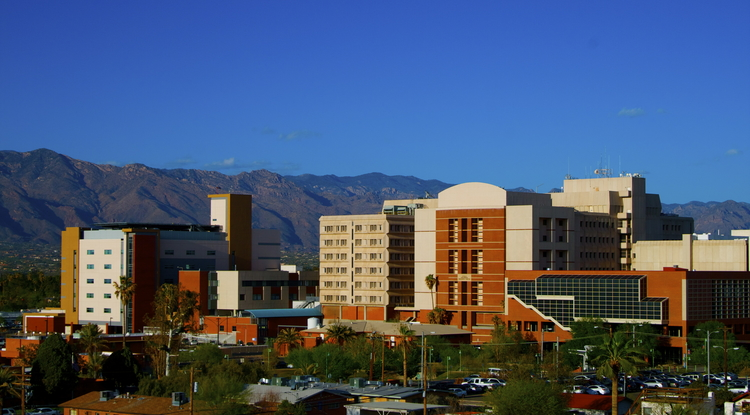 The University of Arizona Medical Center is part of the Arizona Health Sciences Center. (Photo by Scott Kirkessner)