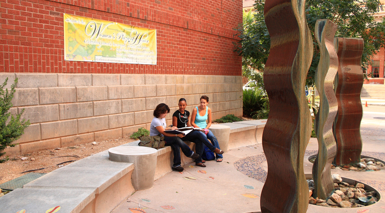 The American Association of University Women exists to support the empowerment and advancement of women and girls. The association has awarded American Fellowships two doctoral students at the UA, and a grant to a third student. (Photo credit: The University of Arizona RedBar)